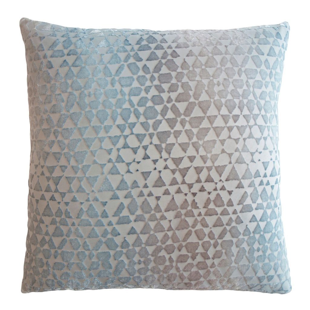 Triangles Velvet Pillows by Kevin O'Brien Studio | Fig Linens