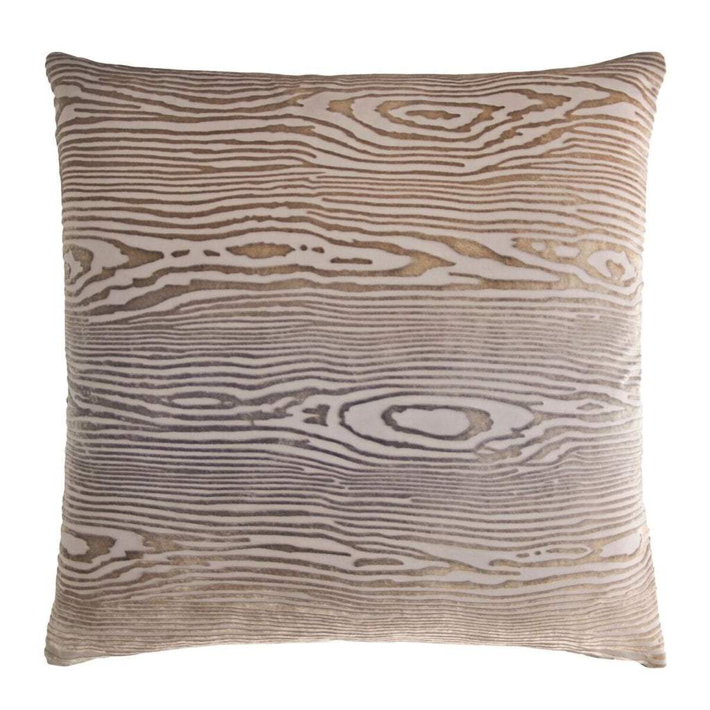 Woodgrain Coyote Velvet Pillows by Kevin O'Brien Studio | Fig Linens