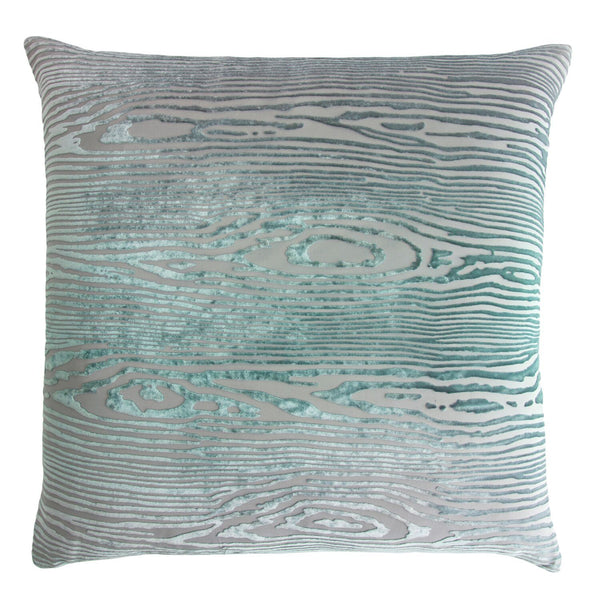 Woodgrain Jade Velvet Pillows by Kevin O'Brien Studio | Fig Linens