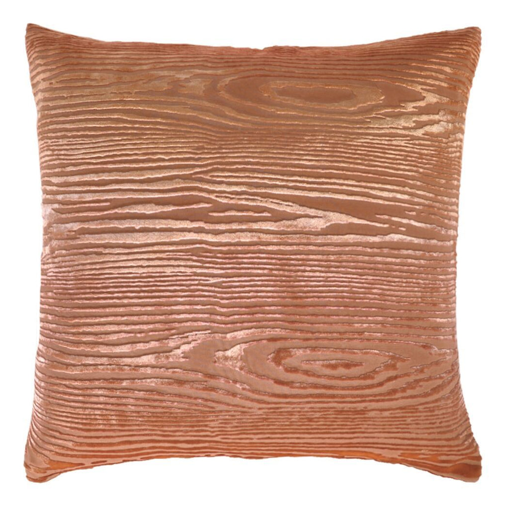 Woodgrain Mango Velvet Pillows by Kevin O'Brien Studio | Fig Linens