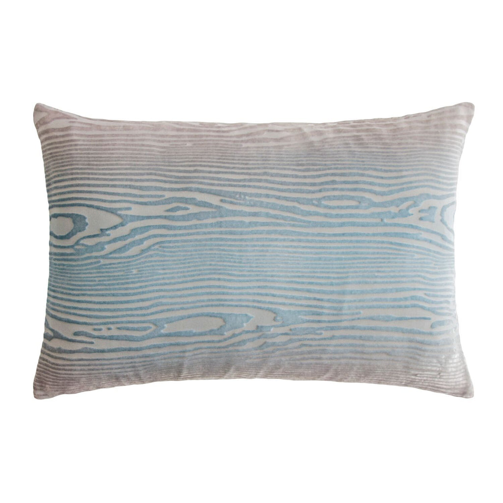 Robin's Egg Woodgrain Velvet Pillows by Kevin O'Brien Studio | Fig Linens