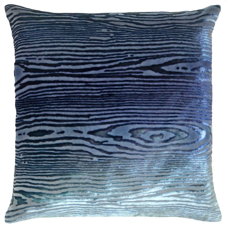 Woodgrain Shark Velvet Pillows by Kevin O'Brien Studio | Fig Linens