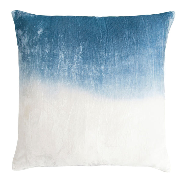 Azul Dip Dyed Velvet Pillow by Kevin O'Brien Studio | Fig Linens