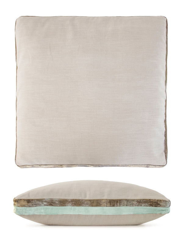 Seaweed Double Tuxedo Pillows by Kevin O'Brien Studio | Fig Linens
