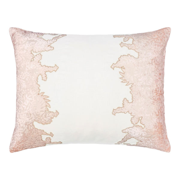Fig Linens - Blossom Ferns Velvet Appliqué Pillow by Kevin O'Brien Studio
