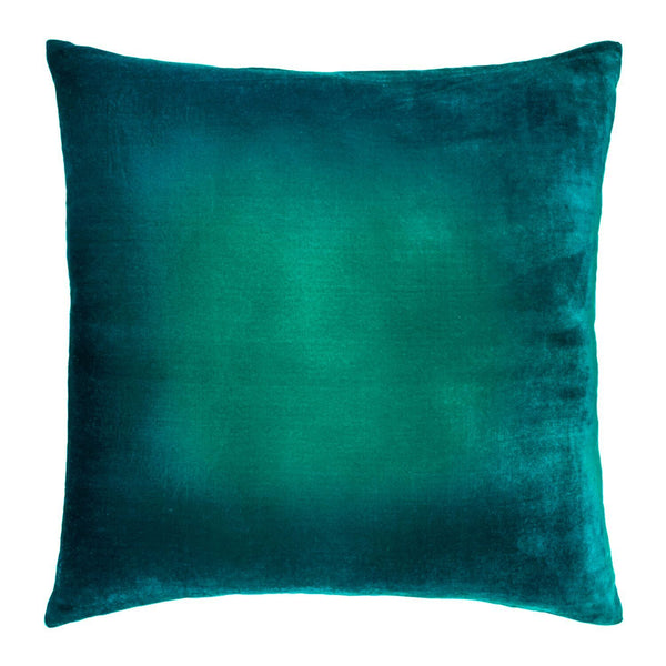Fig Linens - Ombre Malachite Velvet Pillows by Kevin O'Brien Studio