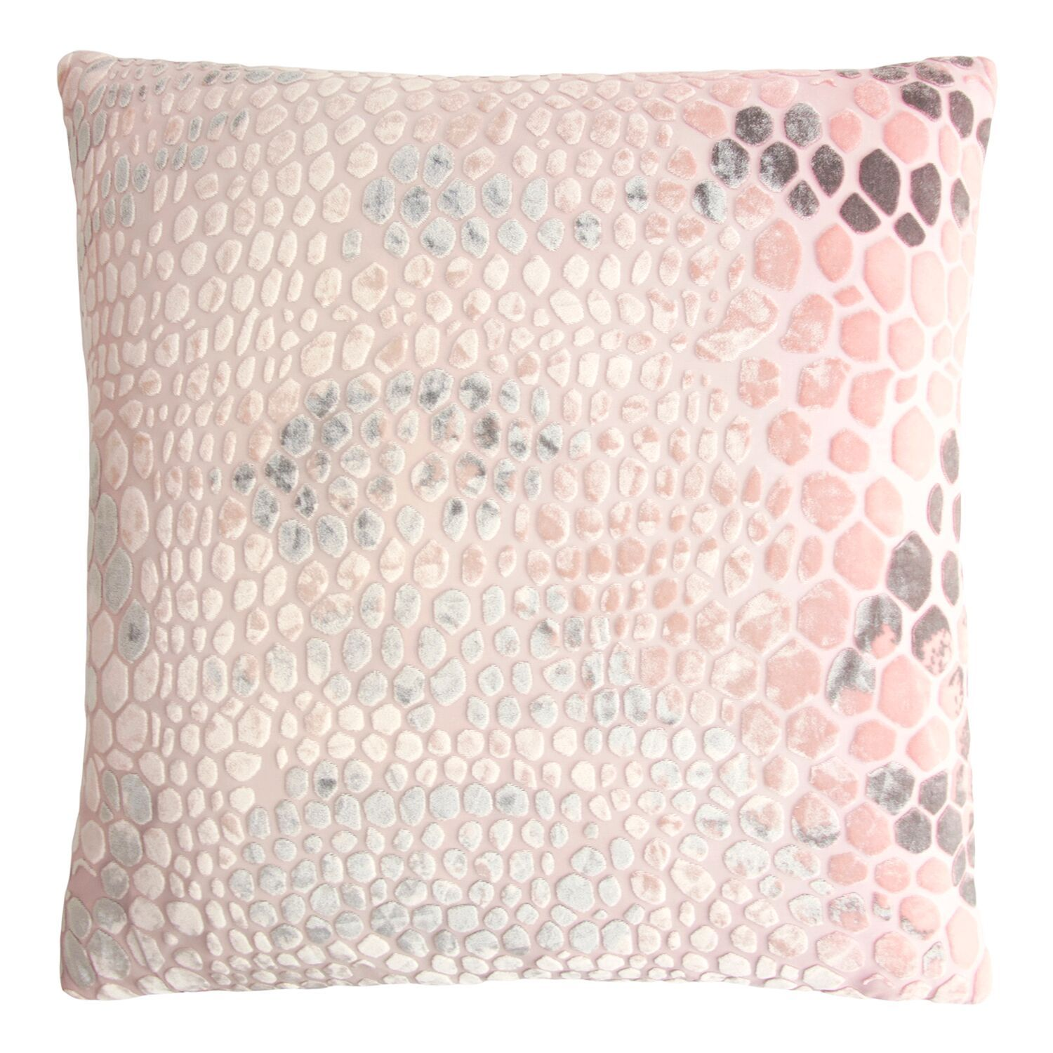 Blush Snakeskin Velvet Pillows by Kevin O'Brien Studio | Fig Linens