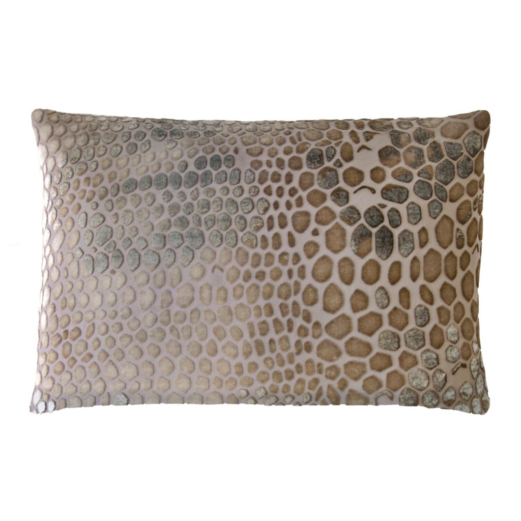 Kevin O'Brien Studio Snakeskin Velvet Pillows in Coyote | Fig Linens