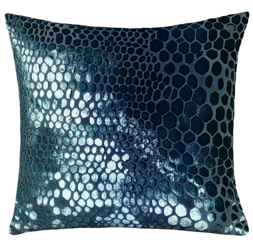 Shark Snakeskin Velvet Pillows  by Kevin O'Brien Studio | Fig Linens