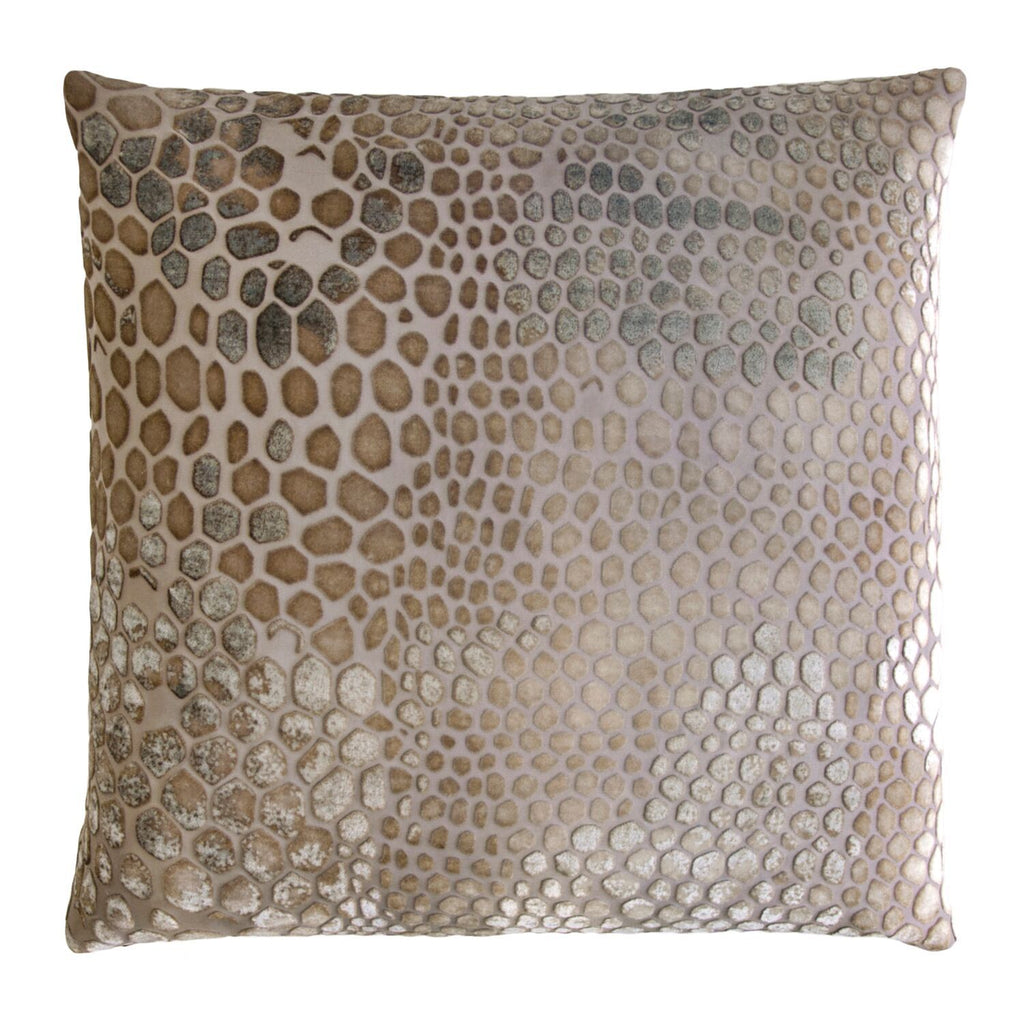 Kevin O'Brien Studio Snakeskin Velvet Throw Pillows in Coyote | Fig Linens