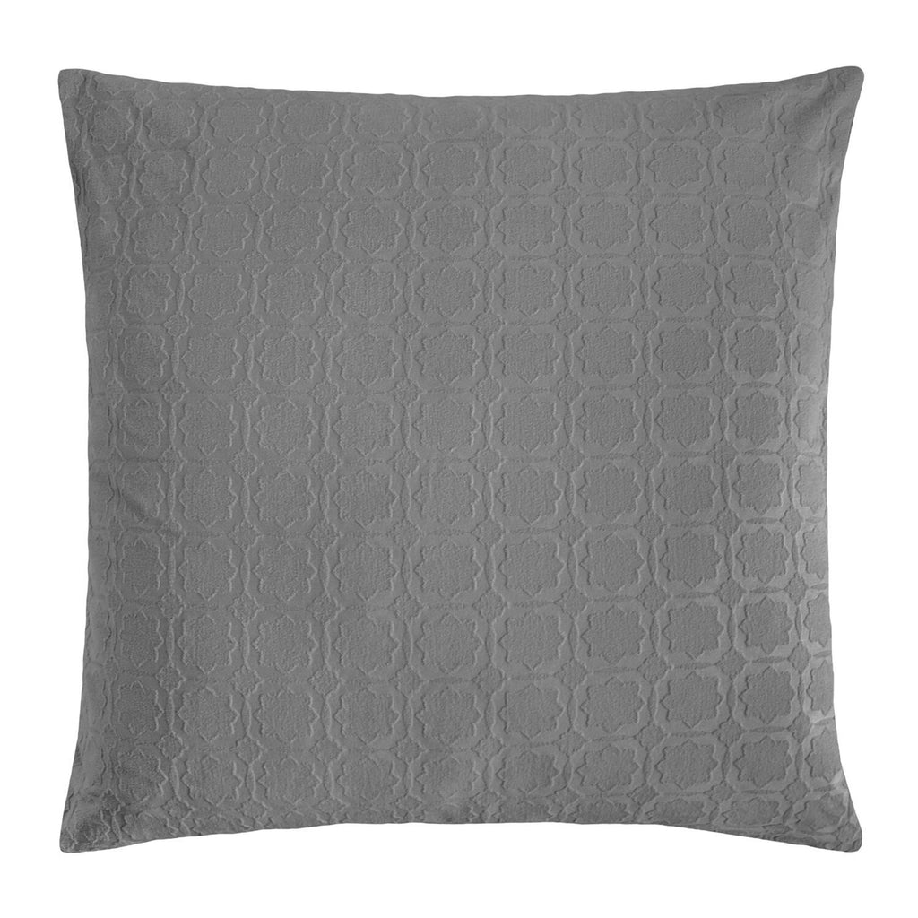 Starflower Charcoal Euro Sham by Kevin O'Brien Studio