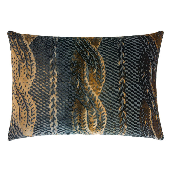 Copper Ivy Cable Knit Lumbar Pillows by Kevin O'Brien Studio | Fig Linens