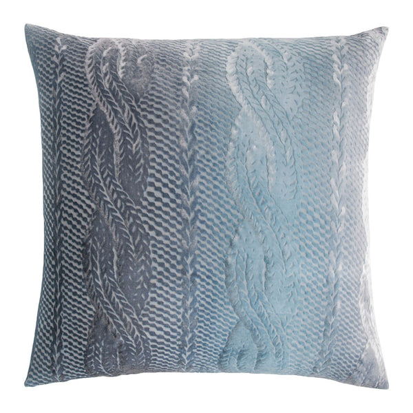 Dusk Cable Knit Velvet Pillow by Kevin O'Brien Studio | Fig Linens