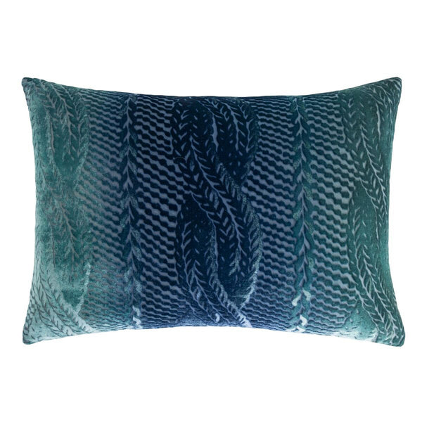Shark Cable Knit Velvet Pillow by Kevin O'Brien Studio | Fig Linens