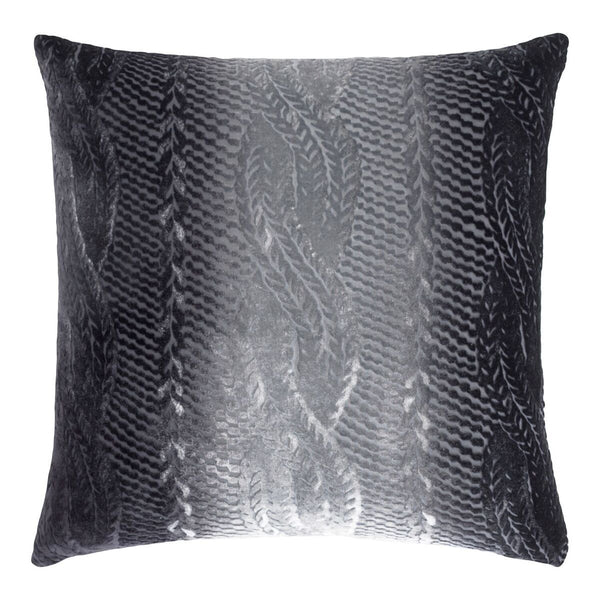 Smoke Cable Knit Velvet Throw Pillows by Kevin O'Brien Studio | Fig Linens