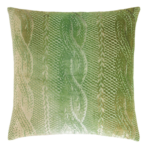 Grass Cable Knit Velvet Pillows by Kevin O'Brien Studio | Fig Linens