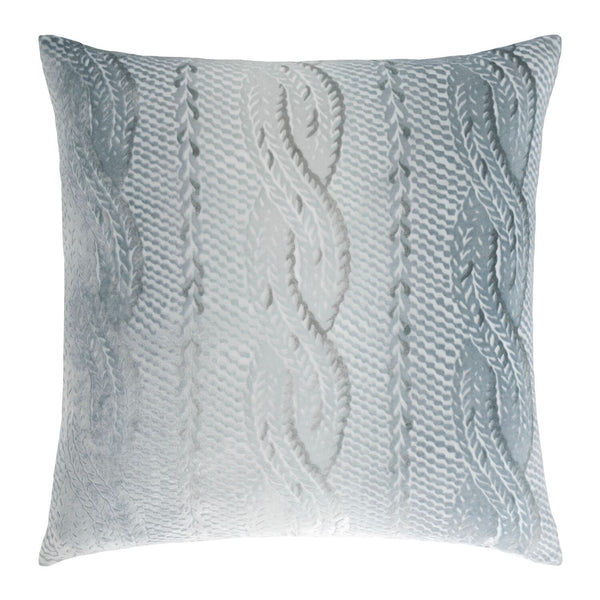 Mineral Cable Knit Velvet Throw Pillows by Kevin O'Brien Studio | Fig Linens