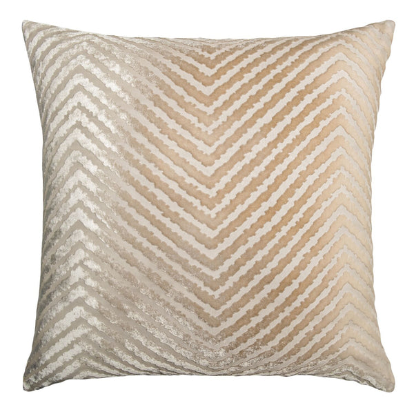 Latte Chevron Velvet Pillow by Kevin O'Brien Studio | Fig Linens