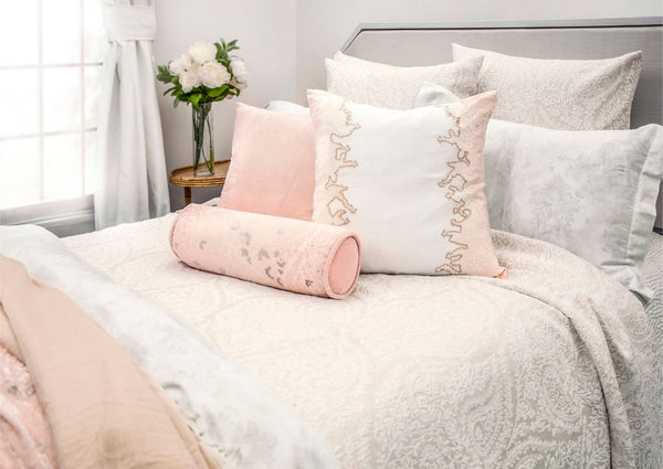 Henna Beige Coverlet and Euro Sham by Kevin O'Brien Studio | Fig Linens