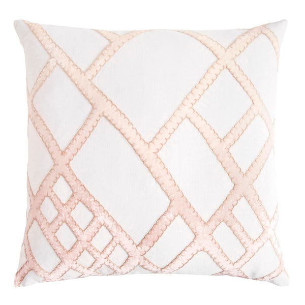 Fig Linens - Blossom Net Velvet Appliqué Pillow by Kevin O'Brien Studio