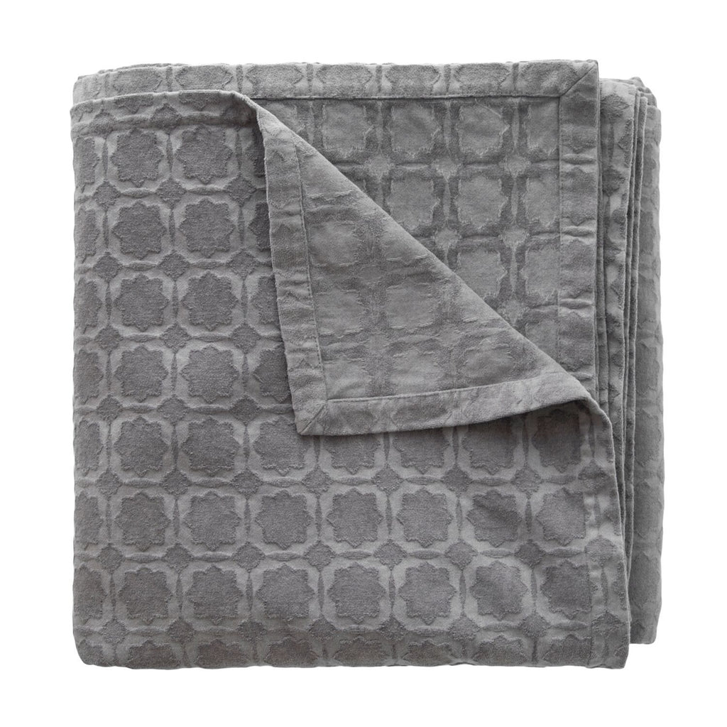 Starflower Charcoal Coverlet by Kevin O'Brien Studio