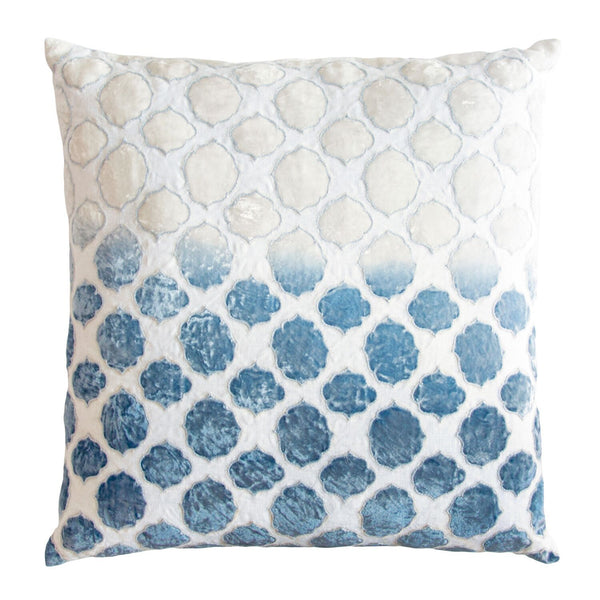 Azul Tile Velvet Appliqué Pillow by Kevin O'Brien Studio | Fig Linens