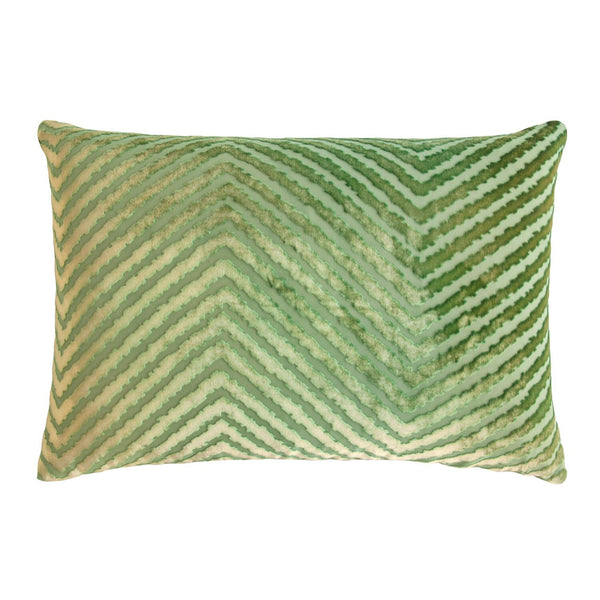 Grass Chevron Velvet Pillows by Kevin O'Brien Studio | Fig Linens