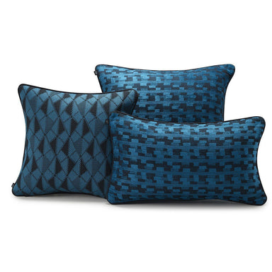 Puzzle Lagoon Decorative Pillows by Le Jacquard Français | Fig Linens