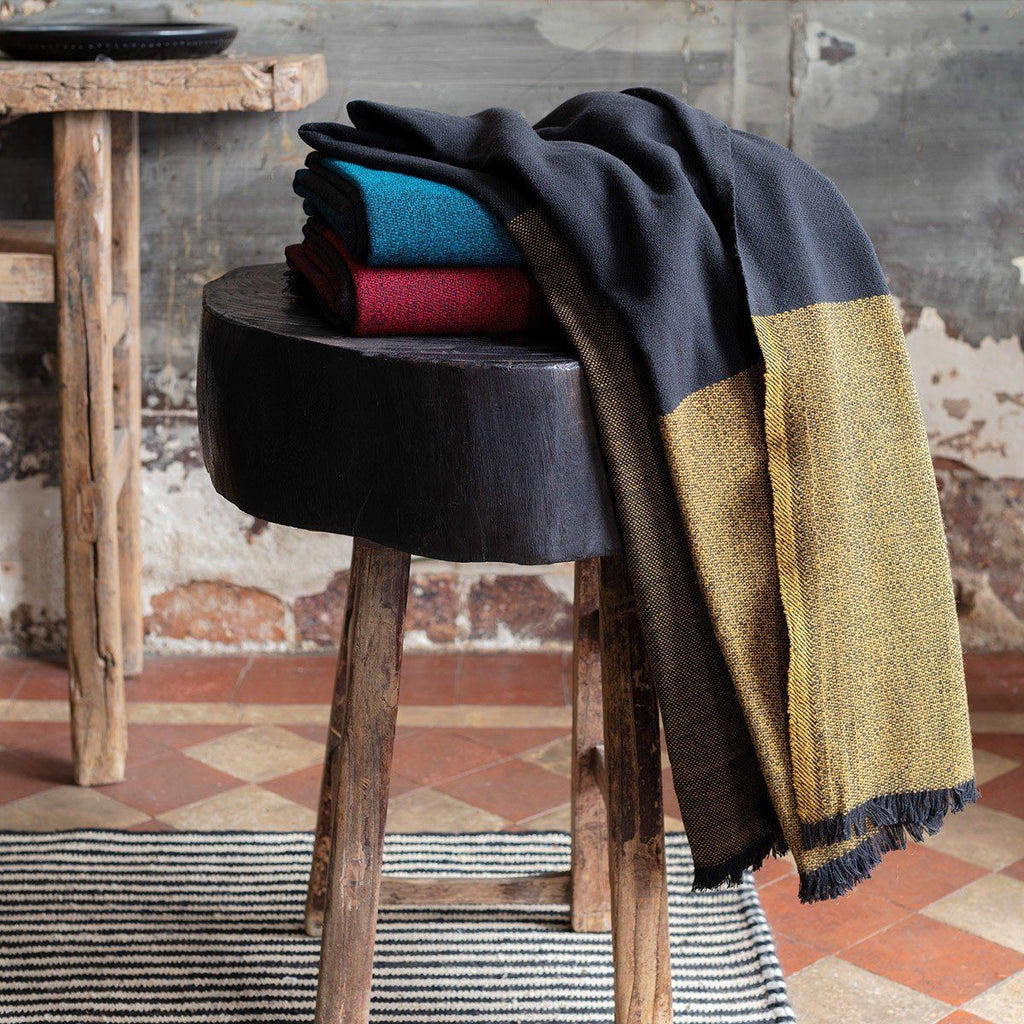 Duo Merino Wool Throws by Le Jacquard Français | Fig Linens