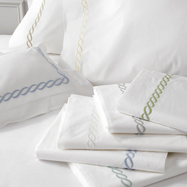 Matouk Luxury Bedding - Classic Chain Sheets and cases - Fig Linens