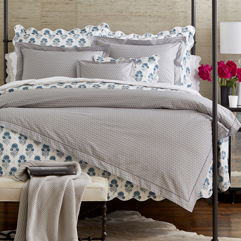 Joplin Bedding by Lulu DK Matouk - Duvets, Quilts, Shams, Sheets -  Mineral blue