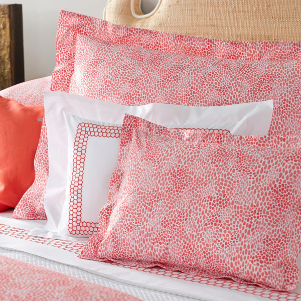 Nikita Coral Duvet Covers, Sheets, Shams - Bedding by Matouk - Fig Linens and Home
