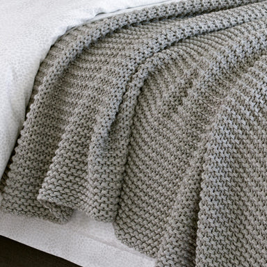 Orla Pewter Throw by Matouk - Fig Linens