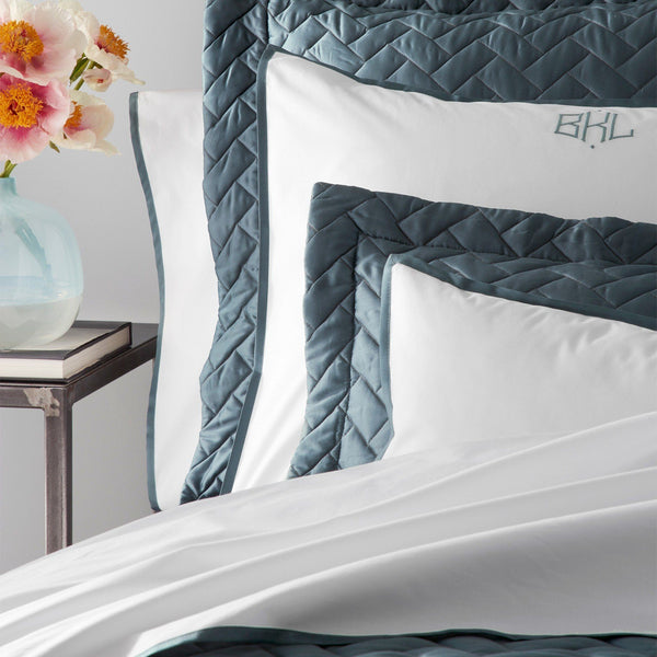 Oscar Deep Jade Bedding by Matouk - Fig Linens