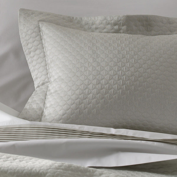 Pearl Silver Matelassé by Matouk - Coverlets, Shams, Bedskirts - Fig Linens