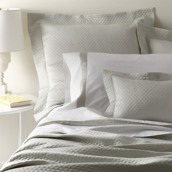 Pearl Matelassé by Matouk - Coverlets, Shams, Bedskirts - Fig Linens