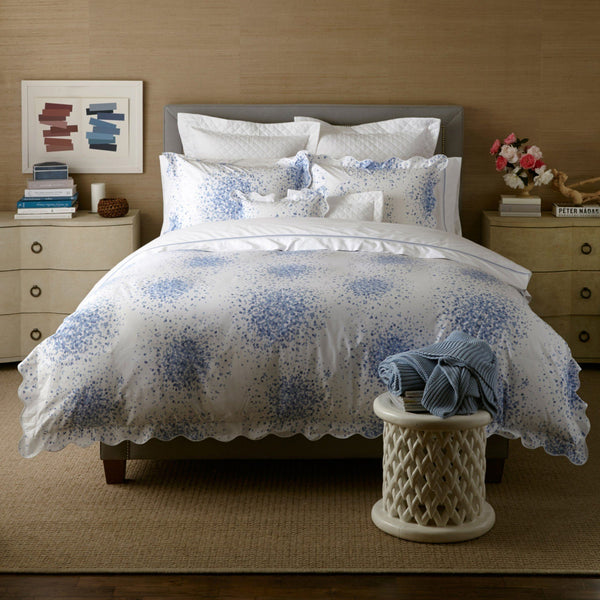 Poppy Azure Blue Bedding by Lulu DK Matouk - Fig Linens