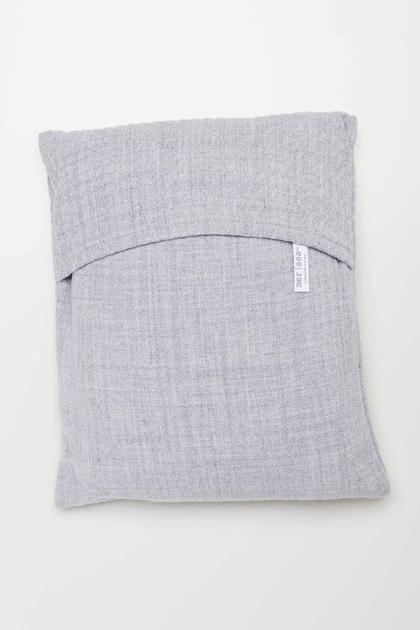 Fog Gray Classic Travel Wrap with bag by Mer Sea | Fig Linens and Home