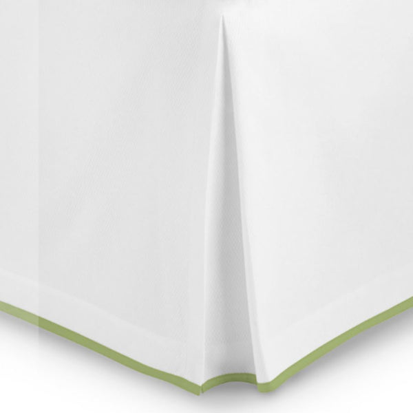 Fig Linens - Peacock Alley Bedding - Pique II Bedskirt in meadow
