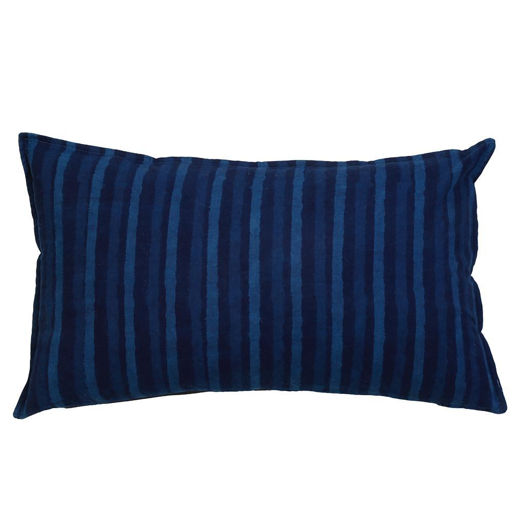 Pom Pom at Home - Indigo Stripes Pillow -Fig Linens