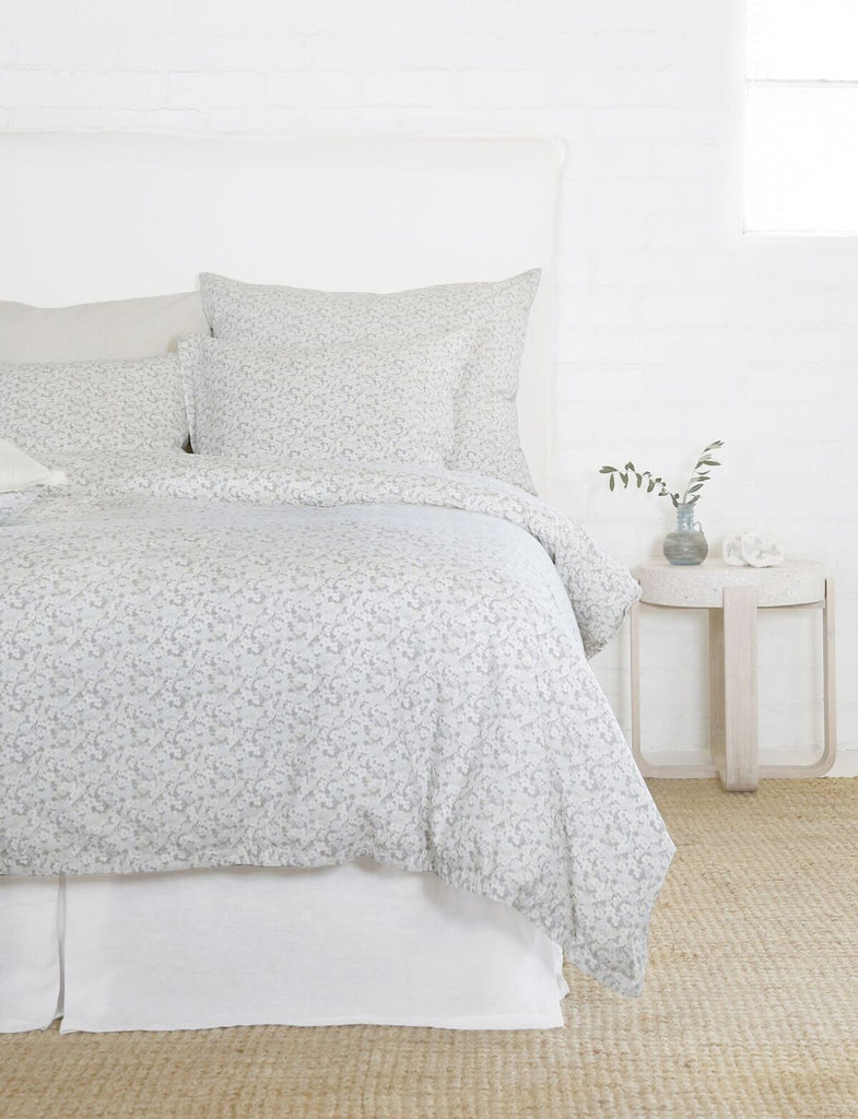 June Ocean & Grey Bedding by Pom Pom at Home | Fig Linens