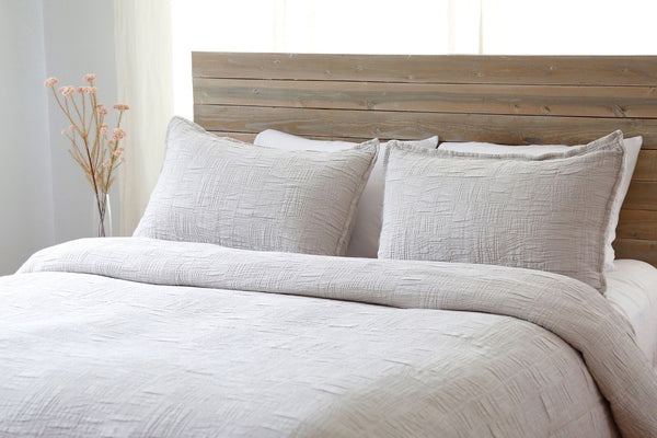Harbour Taupe Coverlet by Pom Pom at Home | Fig Linens and Home