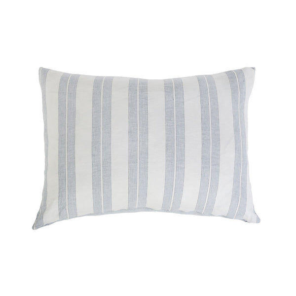 Carter Ivory & Denim Big Pillow by Pom Pom at Home | Fig Linens