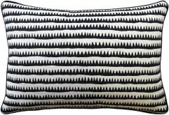 14x20 Corfu Stripe Black Pillow by Ryan Studio | Fig Linens and Home