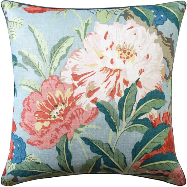 Aqua Enchanted Garden Pillow by Ryan Studio | Fig Linens and Home