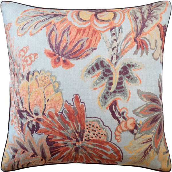 Blue & Cinnamon Floral Gala Pillow by Ryan Studio | Fig Linens