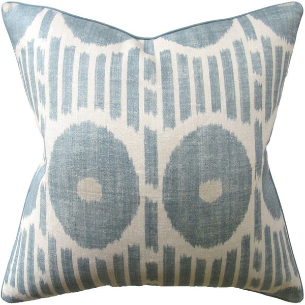Ryan Studio Mesa Ikat Aqua Pillow - Ryan Studio at Fig Linens