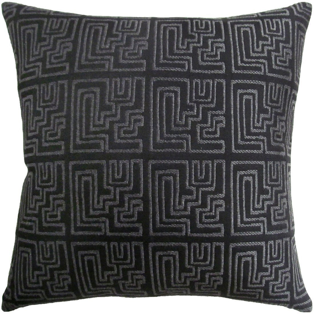 Miramar Graphite Pillow by Ryan Studio | Fig Linens and Home