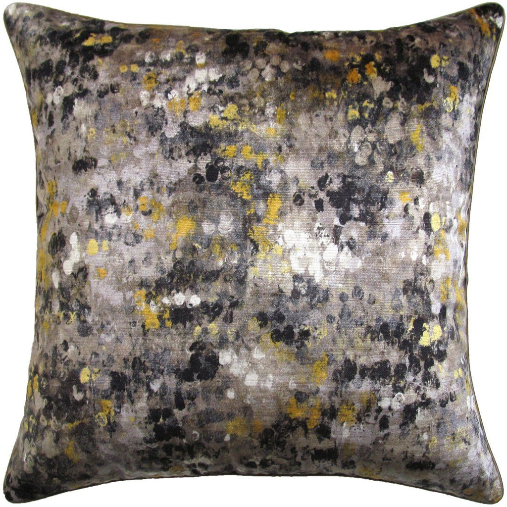 Painted Velvet Grey Ryan Studio Pillow | Fig Linens and Home