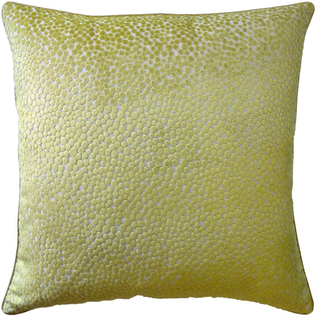 Polka Dot Plush Wasabi Pillow by Ryan Studio | Fig Linens